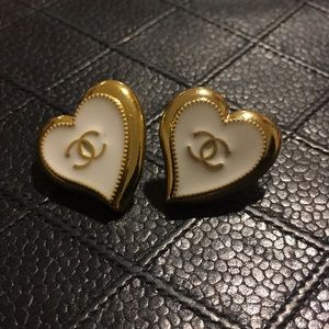 Authentic CHANEL Button Earrings Upcycled